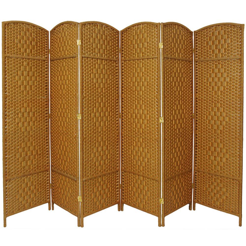 7 ft. Light Beige 6-Panel Room Divider