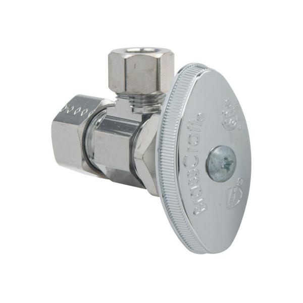 3/8 in. Comp Inlet x 3/8 in. Comp Outlet Multi-Turn Angle Valve