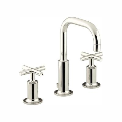 Purist 8 in. Widespread 2-Handle Bathroom Faucet in Vibrant Polished Nickel