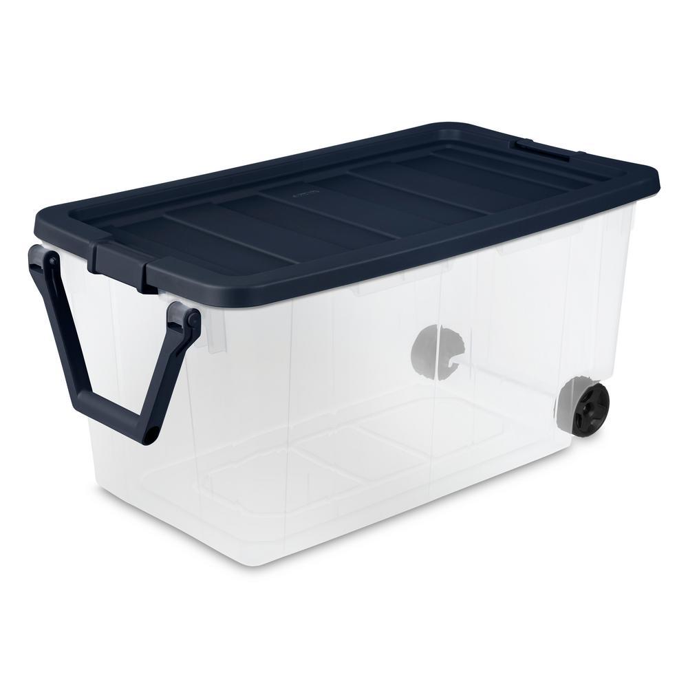 Sterilite 160 Qt Wheeled Storage Box, Home Depot Storage Baskets