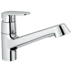 Europlus New Single Handle Pull Out Sprayer Kitchen Faucet In Starlight  Chrome