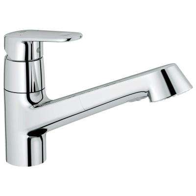 Europlus New Single-Handle Pull-Out Sprayer Kitchen Faucet in Starlight Chrome