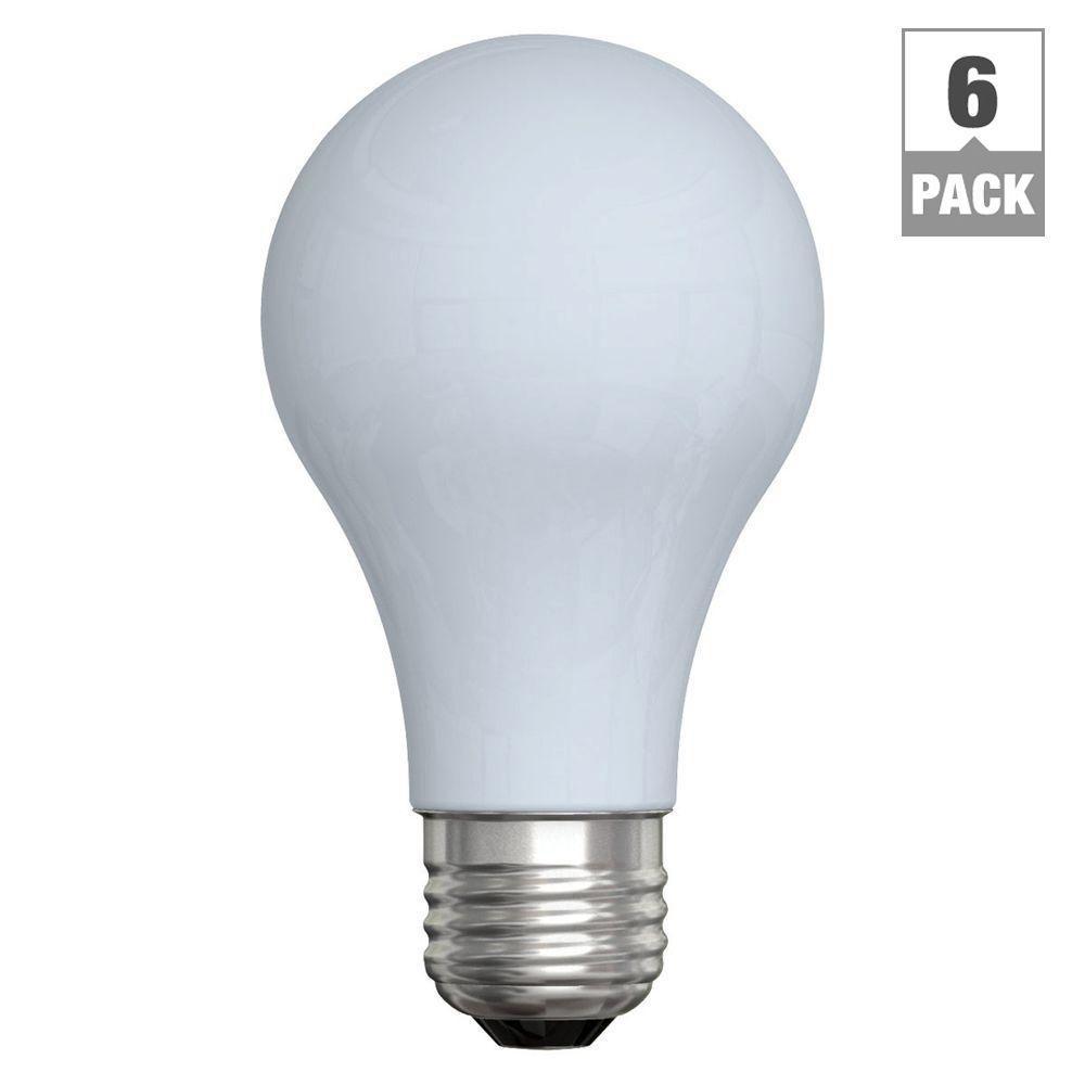 GE Reveal 60-Watt Incandescent A19 Reveal Light Bulb (6-Pack)