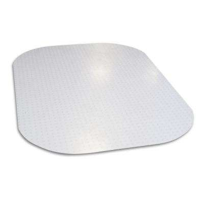 Evolve Modern Shape 45 in. x 60 in. Clear Rectangle Office Chair Mat for Low and Medium Pile Carpet, Phthalate Free