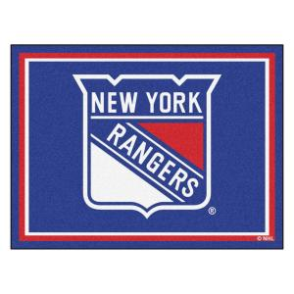 NHL New York Rangers Blue 8 ft. x 10 ft. Indoor Area Rug