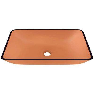 Glass Vessel Sink in Coral