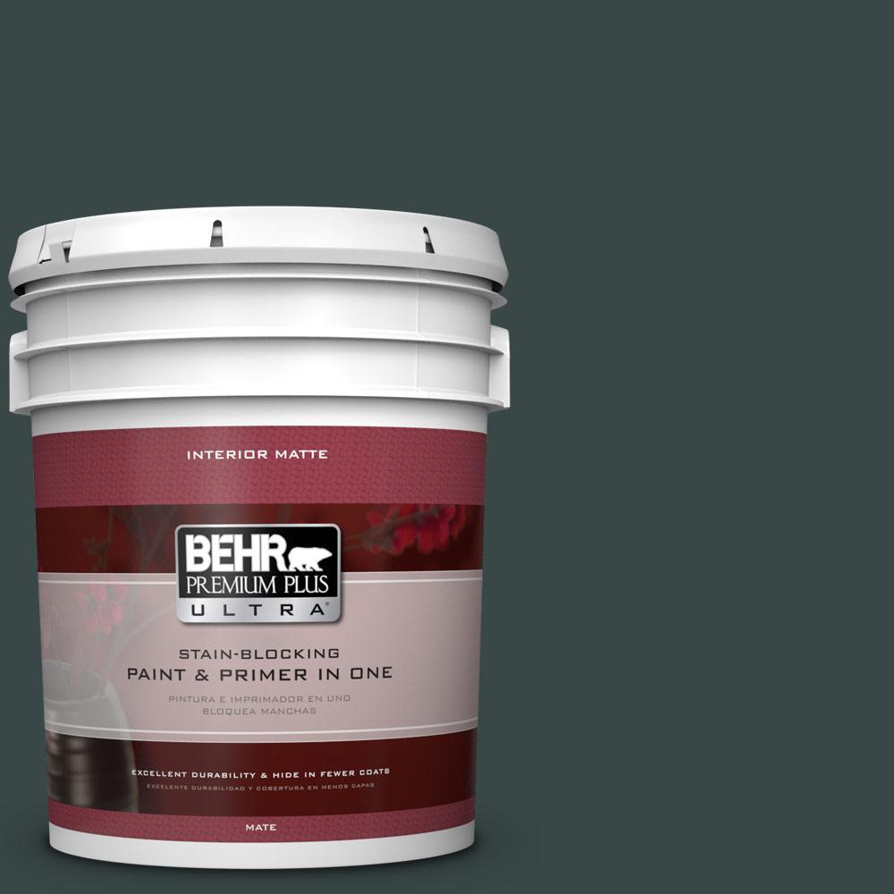 BEHR Premium Plus Ultra 5 gal. #T14-16 Arboretum Matte Interior Paint and Primer in One