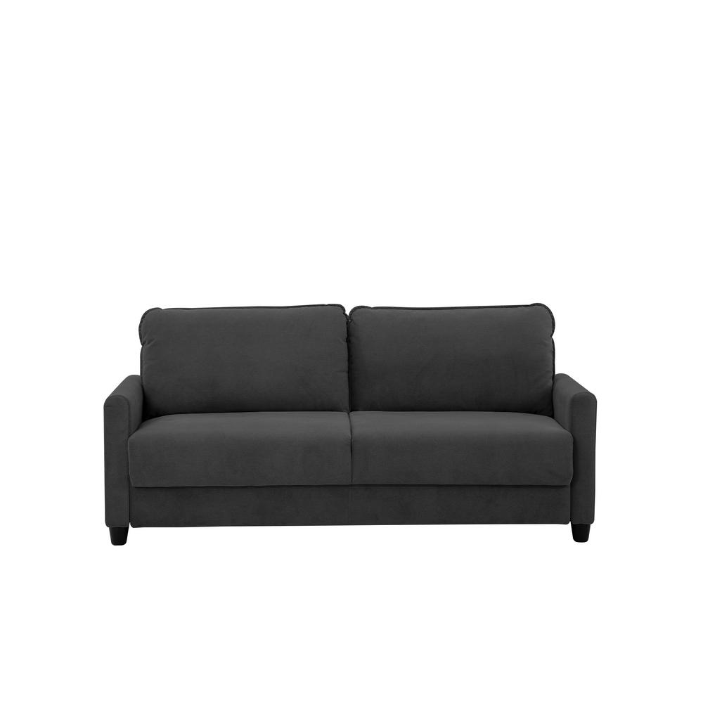 Lifestyle Solutions Shelby Microfiber Sofa With Storage In Black
