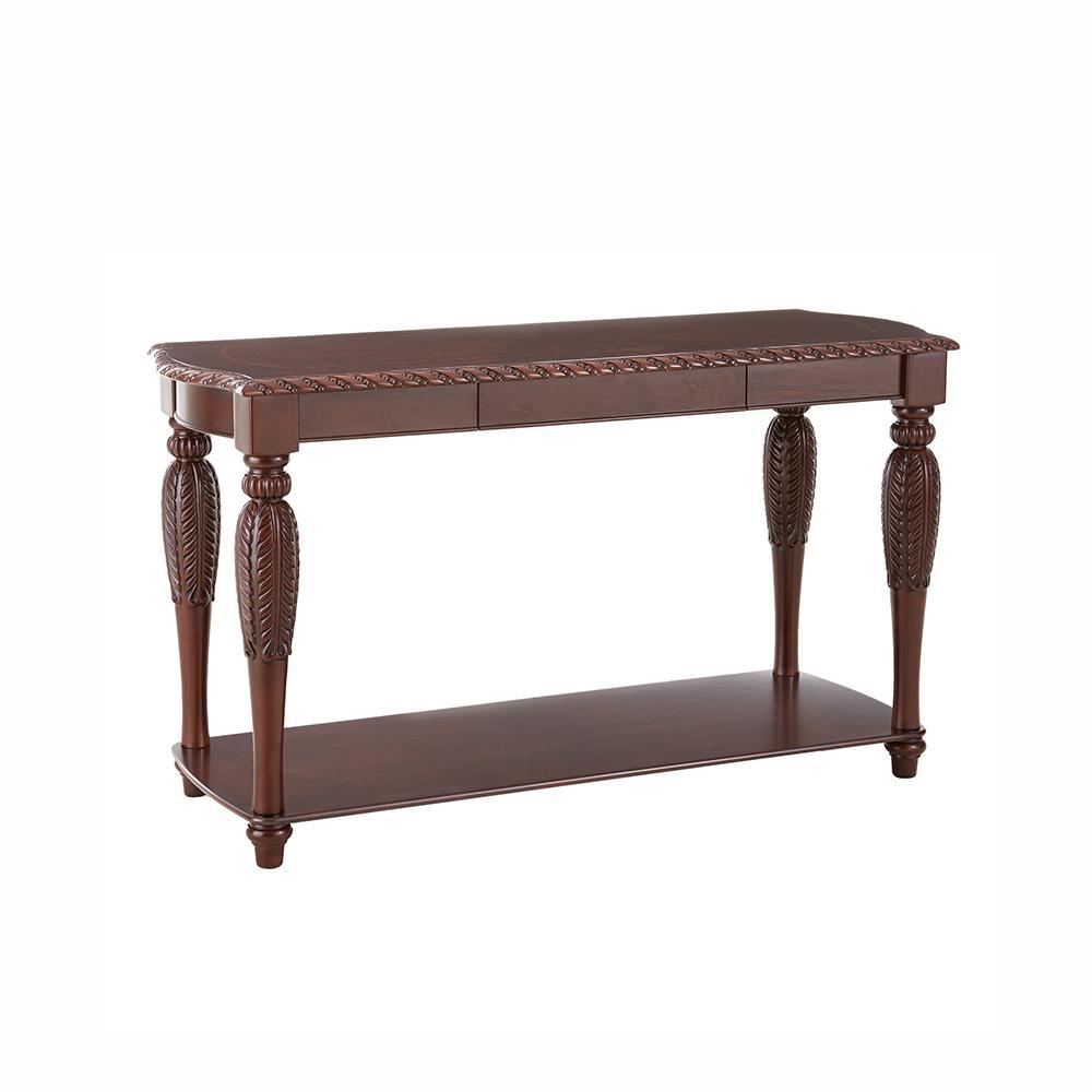 Brown Cherry Sofa Table