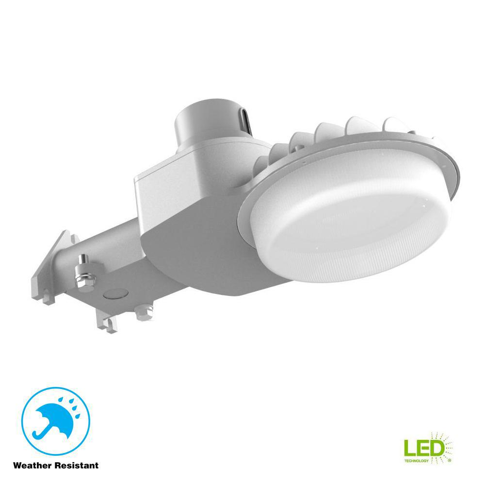 120-277-Volt Large Dusk to Dawn Gray Outdoor Integrated LED Area Light