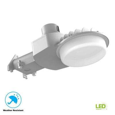 120-277-Volt Large Dusk to Dawn Gray Outdoor Integrated LED Area Light with 7,000 Lumens DLC-Premium