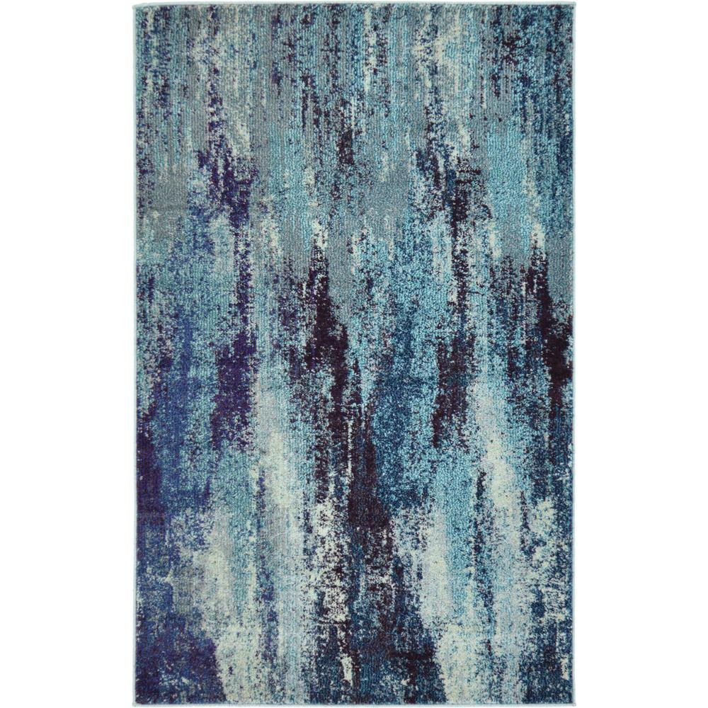 Barcelona Blue 3 ft. 3 in. x 5 ft. 3 in. Area Rug