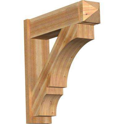 8 in. x 32 in. x 32 in. Balboa Arts and Crafts Rough Sawn Western Red Cedar Outlooker