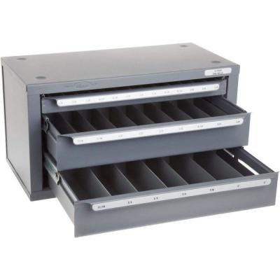 Huot 13000 Fractional Drill Dispenser and Organizer Cabinet Holds 1//16-1//2 Bits