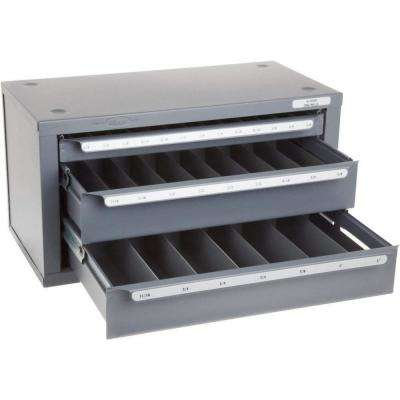 14-5/8 in. 3-Drawer End Mill Drill Bit Tool Case