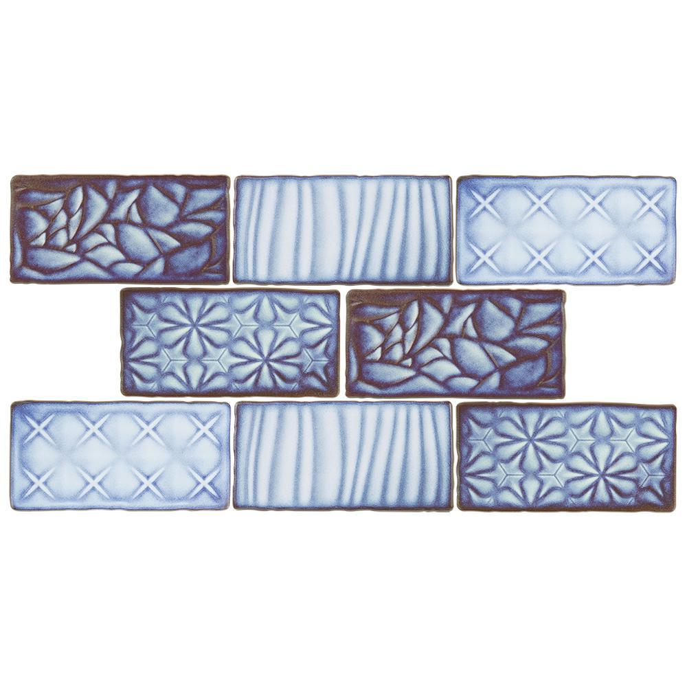 Merola Tile Antic Sensations Via Lactea 3 in. x 6 in. Ceramic Wall ...