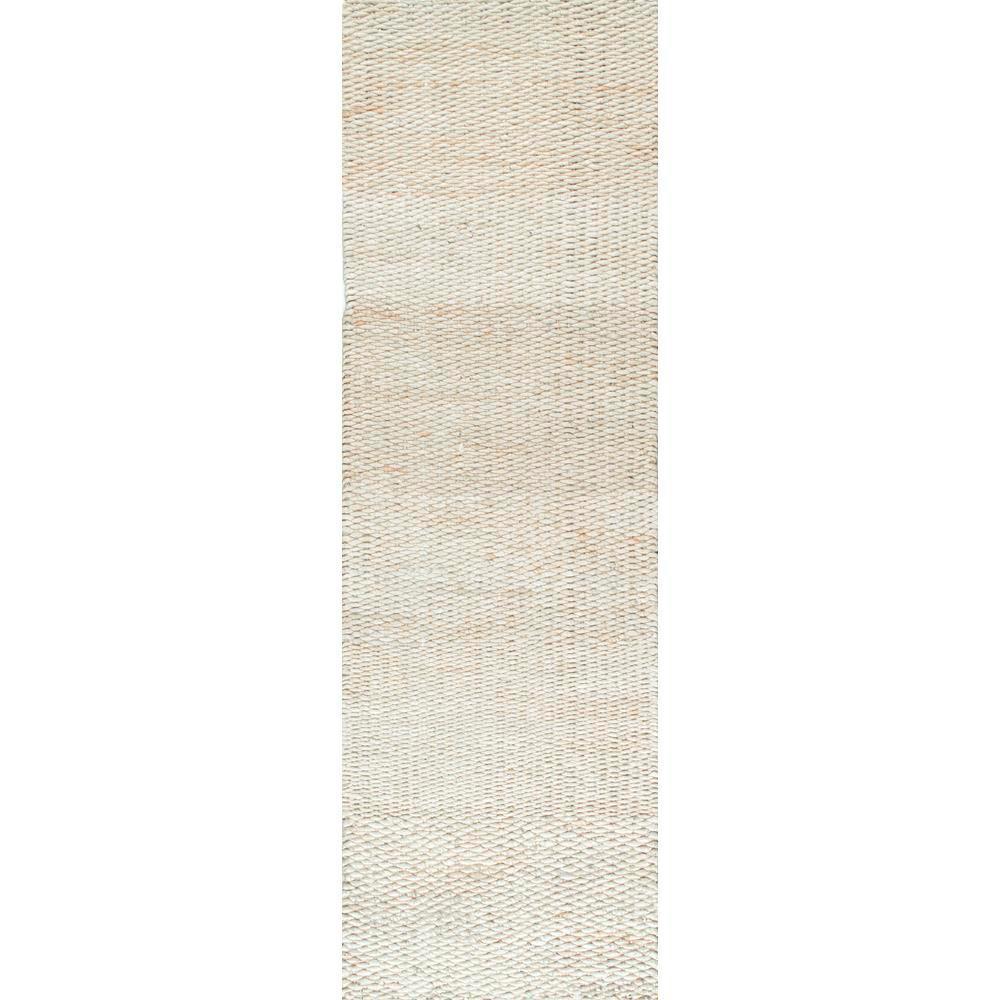 Hailey Farmhouse Solid Jute Off-White 3 ft. x 8 ft. Runner