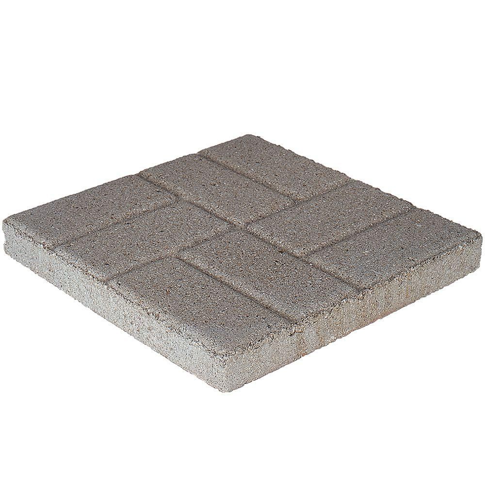 16 in. x 16 in. x 1.75 in. Pewter Brickface Square