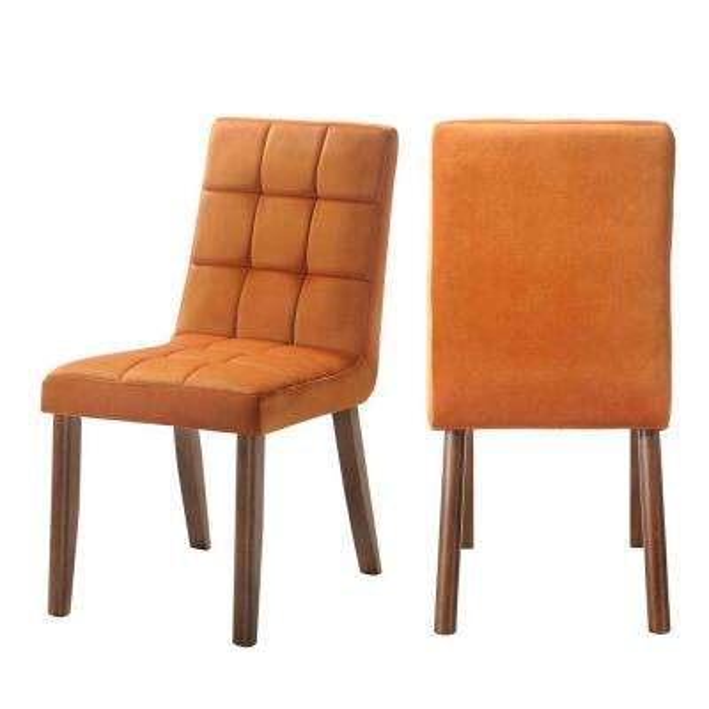 Rosie Tufted Side Chair Set In Orange