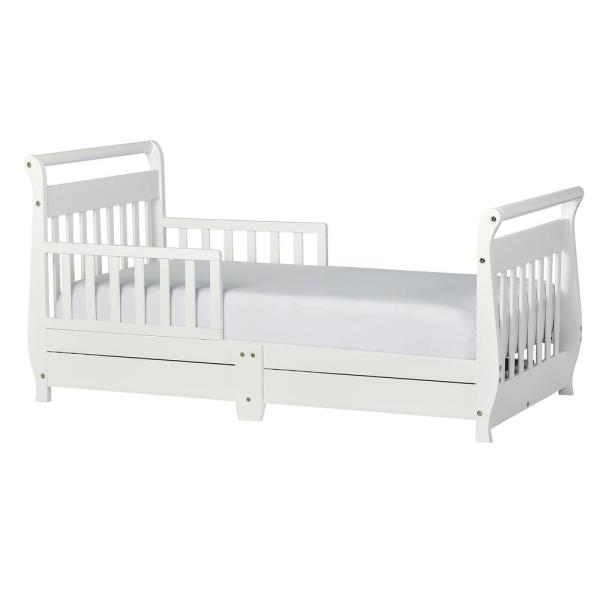 White Dream On Me Classic Sleigh Toddler Bed