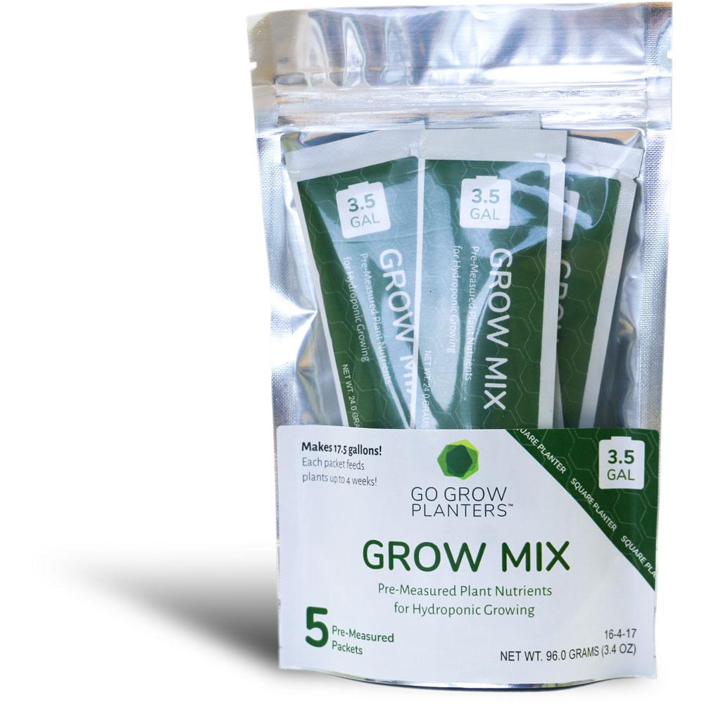 3.5 Gal. Grow Mix Premeasured Plant Nutrients for Hydroponic Growing Square Planter (5-Pack)