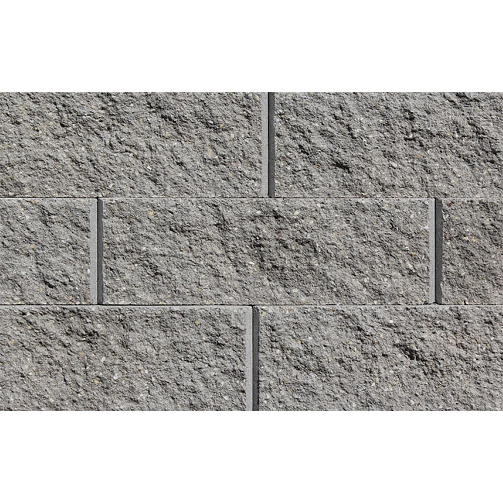 Rockwood Retaining Walls Sapphire 6 in. H x 17.25 in. W x 12 in. D Gray Concrete Retaining Wall Block (45-Pieces/33.75 sq. ft./Pallet)
