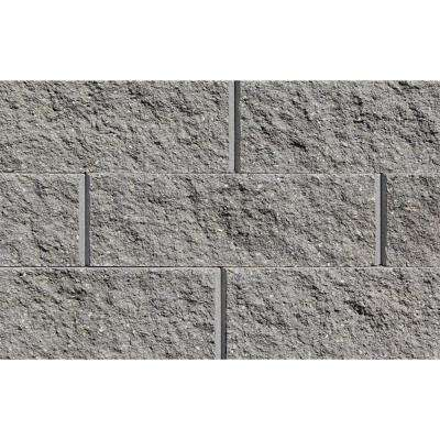 Sapphire 6 in. H x 17.25 in. W x 12 in. D Gray Concrete Retaining Wall Block (45-Pieces/33.75 sq. ft./Pallet)
