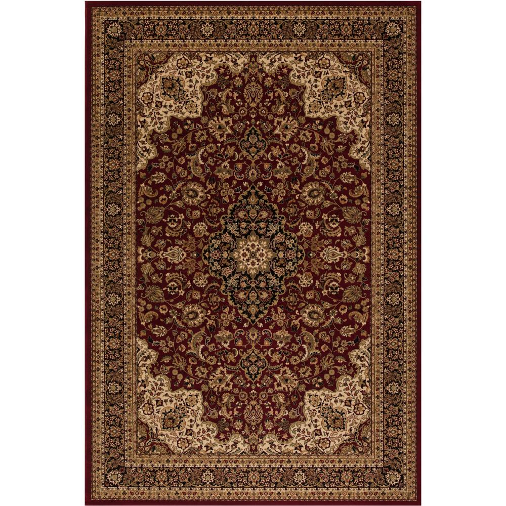 Concord Global Trading Persian Clics Medallion Kashan Red 8 Ft X 11 Area
