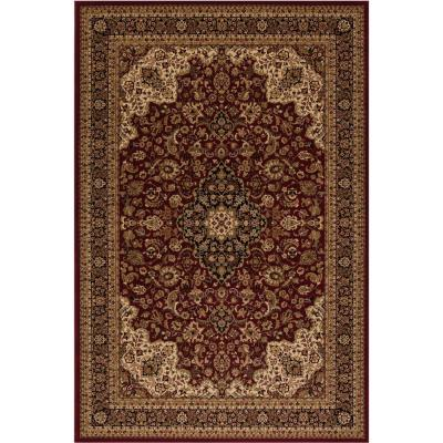 Persian Classic Red 9 ft. x 13 ft. Medallion Area Rug