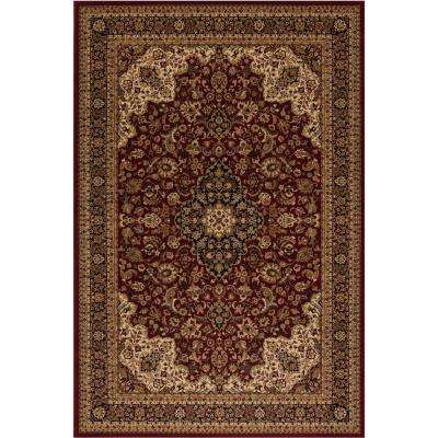 Persian Classic Medallion kashan Red Rectangle Indoor 9 ft. 3 in. x 12 ft. 10 in. Area Rug