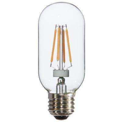 25W Equivalent Warm White Radio T14 Dimmable LED Light Bulbs (6-Pack)