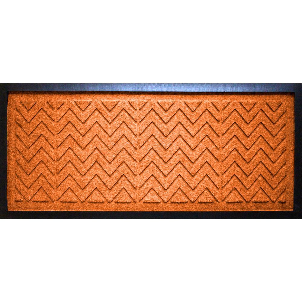Orange 15 in. x 36 in. x 0.5 in. Chevron Boot Tray