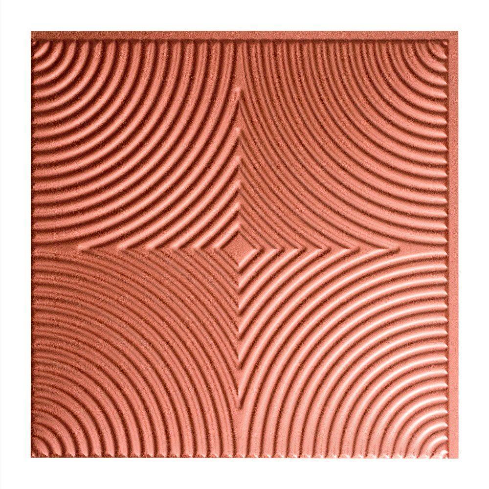 Echo - 2 ft. x 2 ft. Glue-up Ceiling Tile in Argent Copper