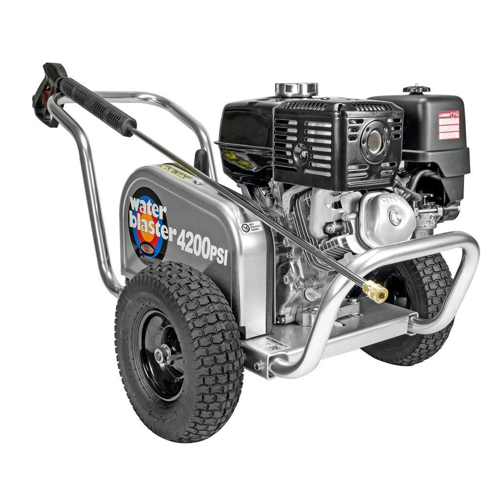 SIMPSON Aluminum Water Blaster ALWB60827 4200 PSI at 4.0 GPM HONDA GX390 Cold Water Pressure Washer