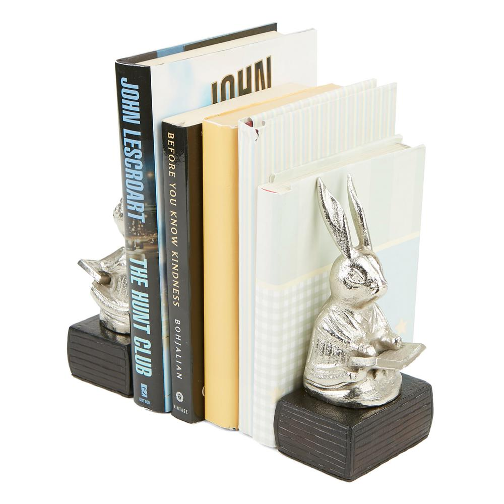 Mind Reader Silver Aluminum Non Skid Rabbit Reading Book Stand Holder And