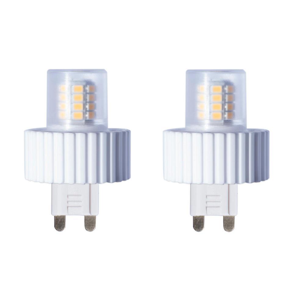 40-Watt Equivalent T4 Dimmable BI-PIN LED Light Bulb Soft White Light (2-Pack)