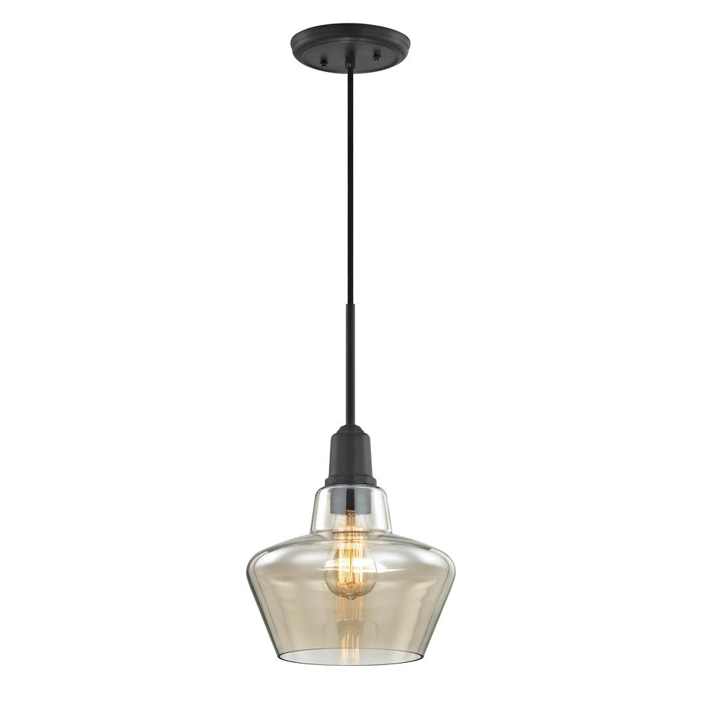 Home Depot Kitchen Lights: Home Decorators Collection 1-Light Aged Bronze Pendant