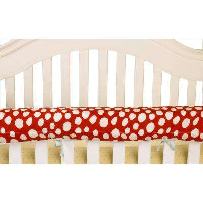 Lizzie Red Dot Cotton Front Crib Rail Cover