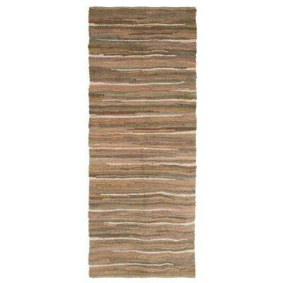 Chindi Tonal Taupe 2 ft. x 5 ft. Runner Rug