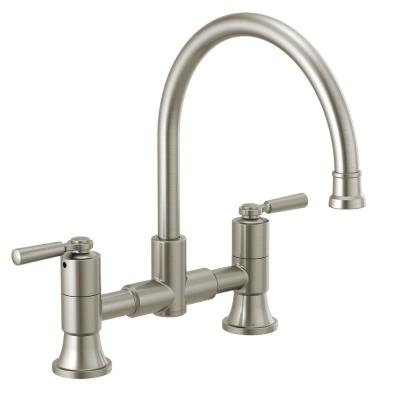 Westchester 2-Handle Bridge Kitchen Faucet in Stainless