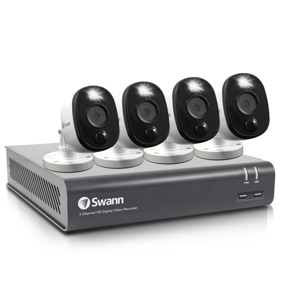 Swann DVR-4580 4-Channel 1080p 1TB DVR Security Camera System with Four 1080p Wired Bullet Cameras was $249.99 now $187.49 (25.0% off)