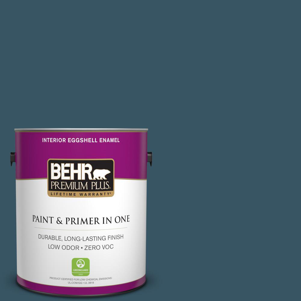 BEHR Premium Plus 1-gal. #S460-7 Deep Breath Eggshell Enamel Interior Paint