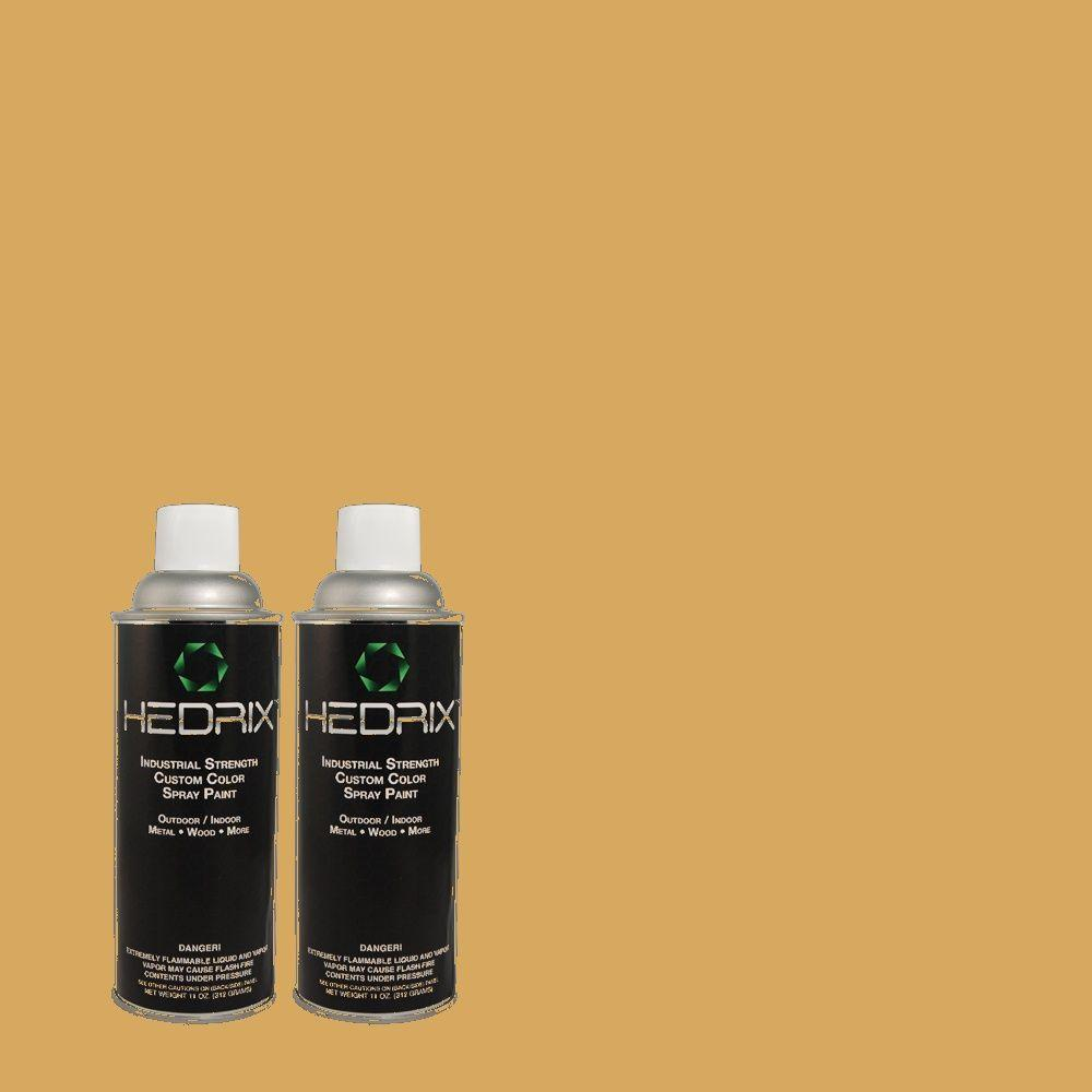 Hedrix 11 oz. Match of 330D-5 Campground Low Lustre Custom Spray Paint (2-Pack)