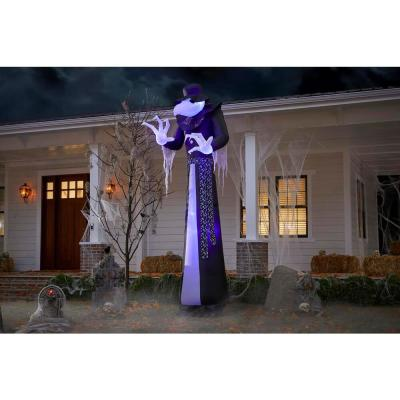 12 ft. Short Circuit Victorian Reaper Halloween Inflatable with Lightshow Projection