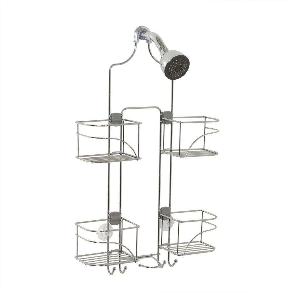 Expandable Shower Head Caddy for Hand Held Shower or Tall Bottles