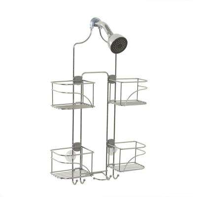 Expandable Shower Head Caddy for Hand Held Shower or Tall Bottles in Chrome