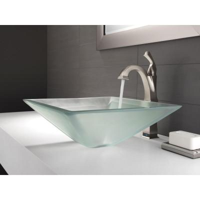 Dryden Single Hole Single-Handle Vessel Bathroom Faucet with Touch2O.xt Technology in Stainless