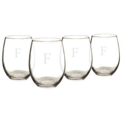 Personalized Stemless Wine Glasses - F