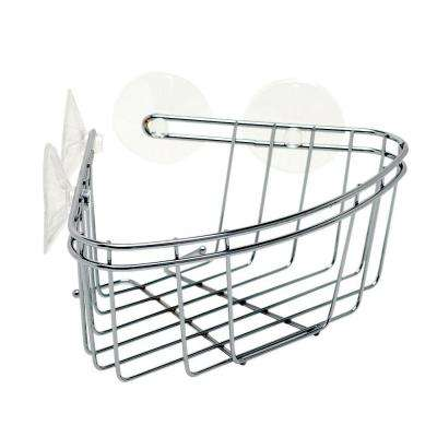 Corner Bath and Shower Basket in Chrome