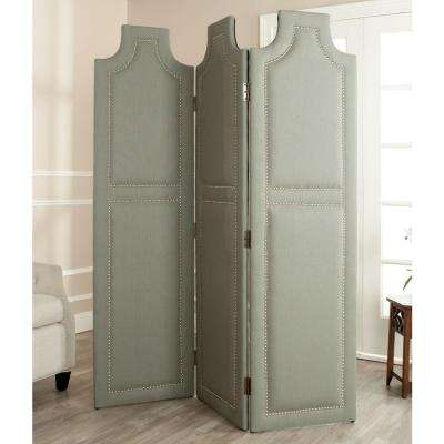 5.91 ft. Sea Mist 3-Panel Room Divider